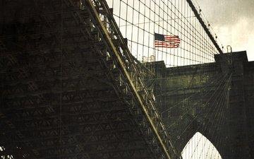 мост, флаг, сша