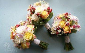 цветы, розы, ромашки, георгин, композиция, свадебный букет, букеты, альстромерия