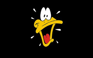 cartoon, black background, duck, disney, funny ringtones, daffy duck