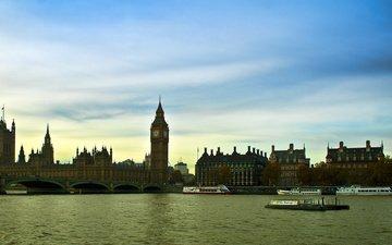 лондон, темза, англия, биг бен