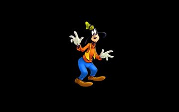 black background, surprise, walt disney, goofy, goof