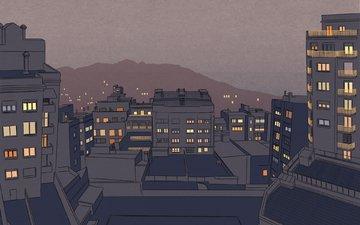 рисунок, города