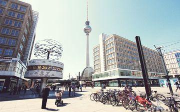 город, площадь, германия, берлин