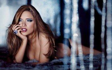 рыжая, грань, красивая грудь, шикарная женщина