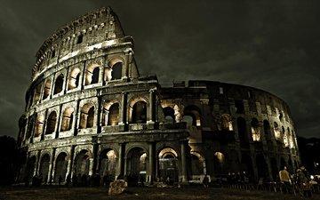 италия, колизей, рим