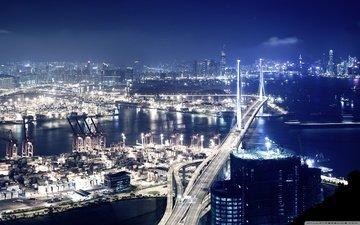 ночной город, порт