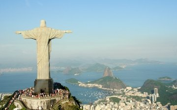 статуя, рио, рио-де-жанейро, христа спасителя