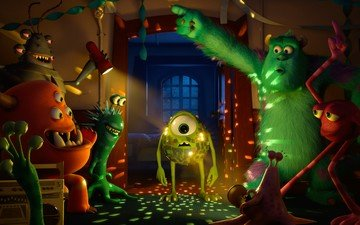 "monsters, ""monsters inc."", ""monsters university "", mike wazowski, sally"