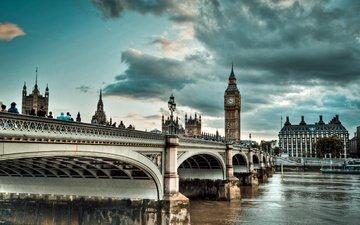 мост, лондон, биг бен