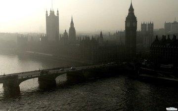 река, лондон, темза, биг бен, big-ben, парламент
