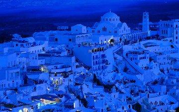 дома, белые, греция