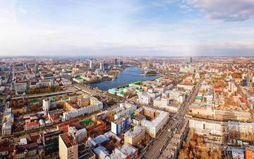 panorama, the view from the top, street, ekaterinburg