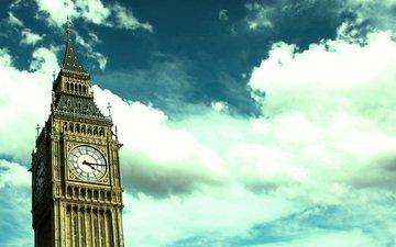 лондон, часы, биг бен, big-ben