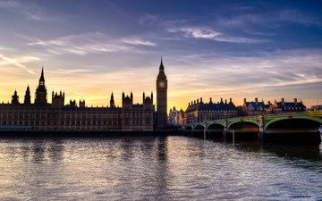 река, лондон, темза, англия, биг бен, big-ben, парламент