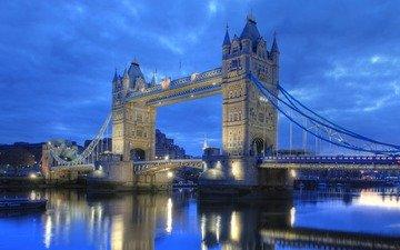 река, лондон, темза, тауэрский мост