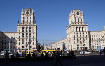 башни, площадь, минск, привокзальная площадь, городские ворота