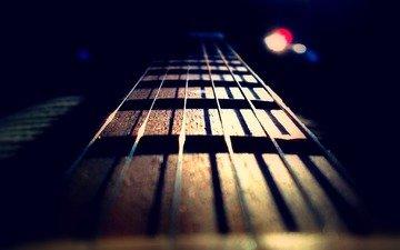 гитара, музыка, гриф, струны