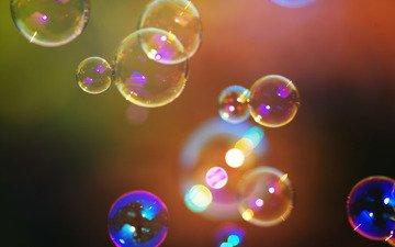 свет, цвета, краски, блики, яркость, пена, мыльные пузыри