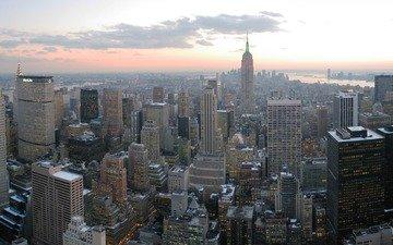 обои, небоскребы, нью-йорк, манхеттен, манхэттен, нью - йорк