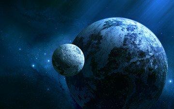звезды, планета, холод, спутник, joejesus