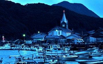 лодки, япония, порт