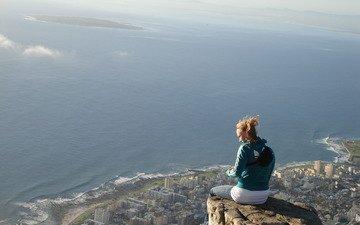 вид, панорама, высота, одиночество, свобода, уединение