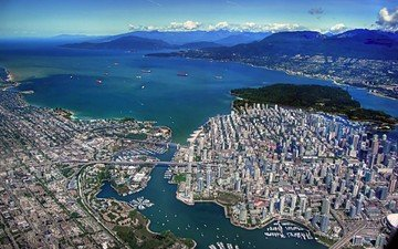 the view from the top, bay, vancouver, canada