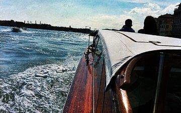 вода, солнце, венеция, катер, гранд-канал