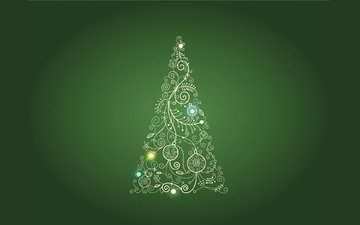 tree, green, background
