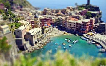 море, город, лодки, бухта