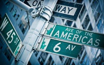 америка, сша, знак, перекресток