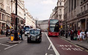 дорога, люди, лондон, движение, улица, разметка, транспорт, автобус, остановка