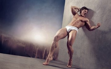 the city, guy, male, men, macho, body, torso, muscle, photo for girls
