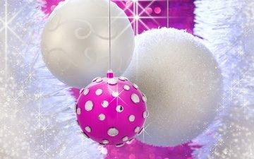 новый год, зима, шарики, игрушки