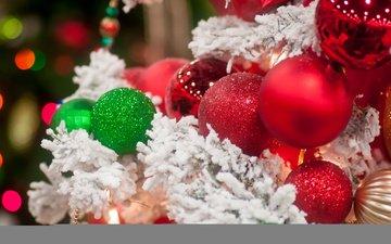 новый год, елка, шарики, игрушки