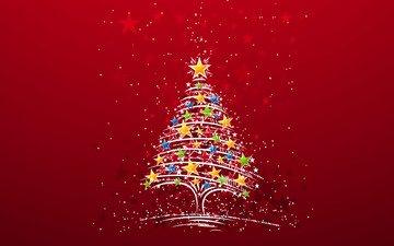 new year, tree, winter