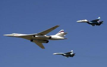 самолет, су-27, су-30, nebo, polet, aviaciya, black jack, ту 160, белый лебедь