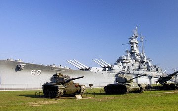 linkor, tanki, gazon, muzej
