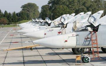 aircraft, bomber, su 24m, su-24m