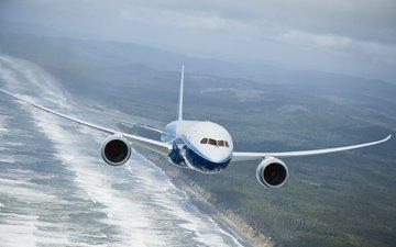 боинг, 787, dreamline, polyot, обьлака