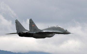 самолет, полет, истребитель, многоцелевой, истебитель, миг-29, polyot, mig 29