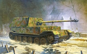 sau, samoxodno artillerijskaya, risunok