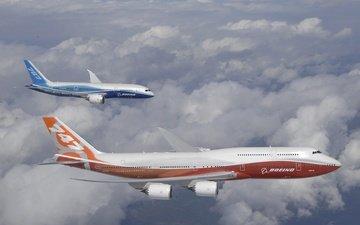 boeing, 787, polyot, 747 8, intercontinental