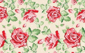 cvety, krasivo, butony, rozy, krasnye, tekstura