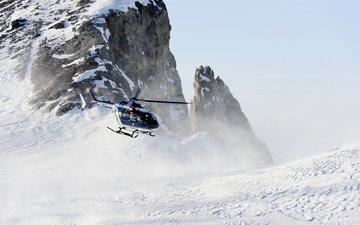 vertolyot, sneg, eurocopter, ec 725