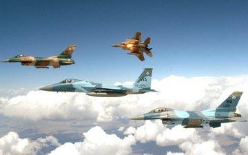 the plane, istrebitel, polet, v nebe