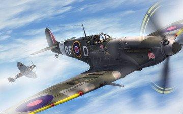 pilot, nebo, nebesnyj patrul