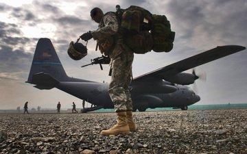 the plane, oruzhie, soldat