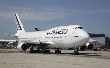 boeing, 747, ayerodrom, air france, grazhdanskaya