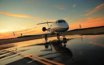 aviaciya, samolyot, reaktivnyj, biznes, grazhdanskaya